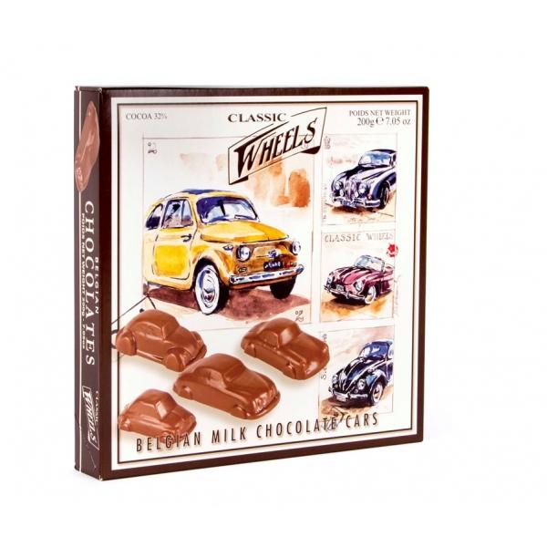 Schokoladenauto belgische Schokolade für Freunde schöner Oldtimer