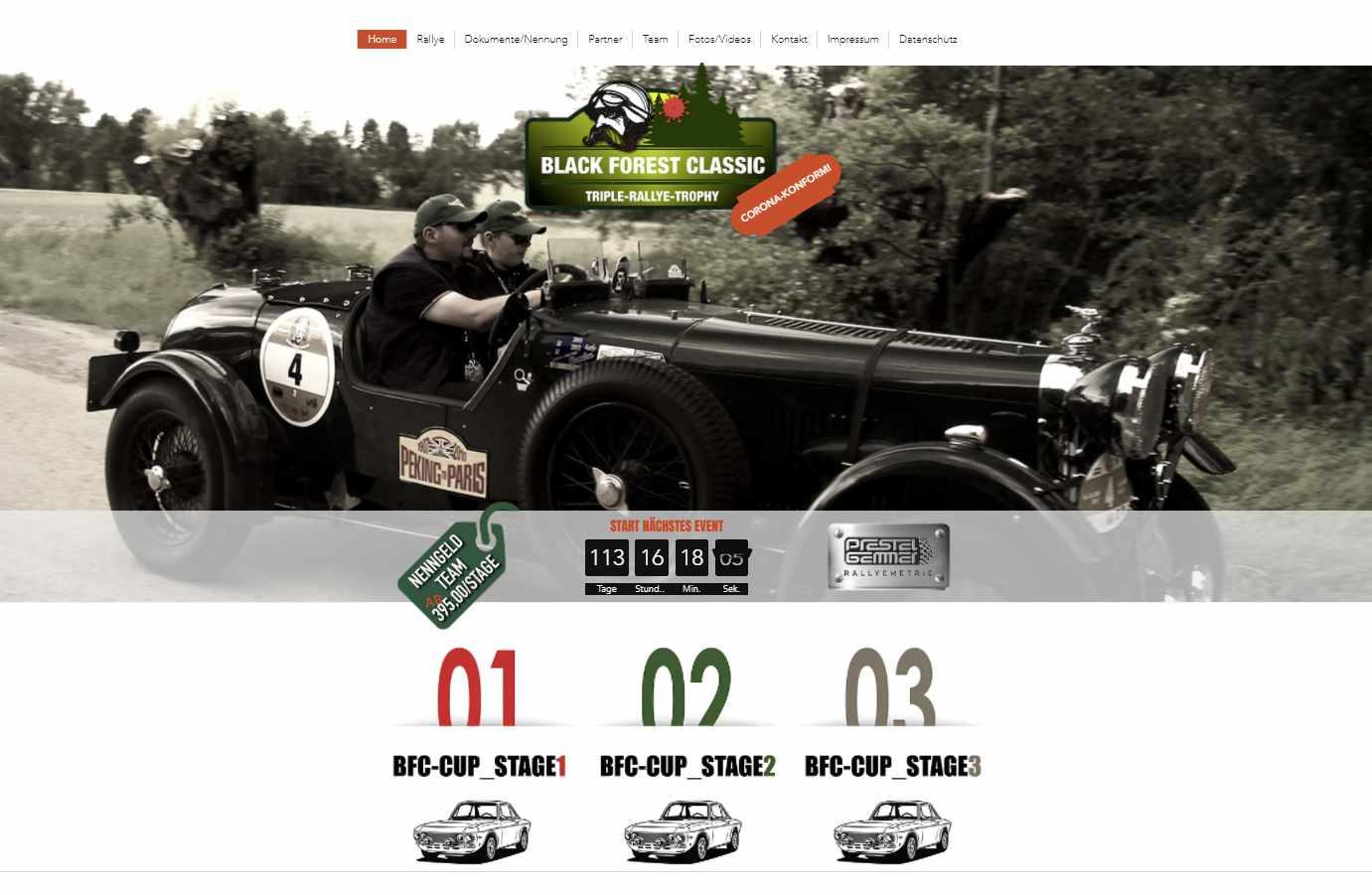 Black Forest Oldtimer Rallye 2021 Corona konforme Veranstaltung für Oldtimer-Freunde
