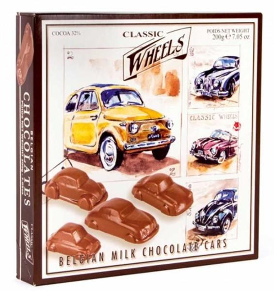 Classic Wheels Schokoladen Autos mit Nougatfüllung