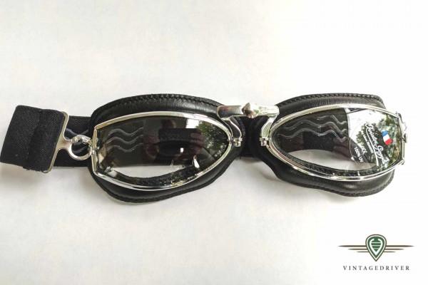 aviator Fahrerbrille 444 schwarz chrom verstellbarer Nasenbügel