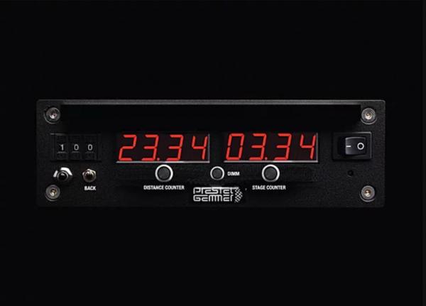 Wegstreckenzaehler RallyeMaster DIN Retro Radioschacht LED Anzeige