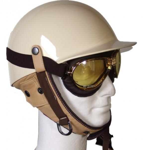 Halbschalenhelm Vintage Helm Deluxe personalisierbar | Vintgedriver