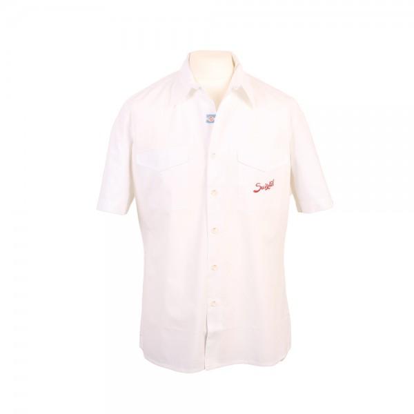 Fahrershirt Suixtil Brescia Herrenhemd Kurzarm weiß