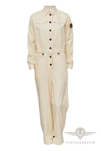 Damen Vintage Retro Fahreroverall Bio Baumwolle Luxus
