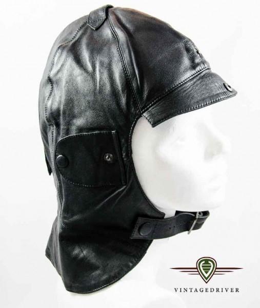 Leder Cabriohaube schwarz