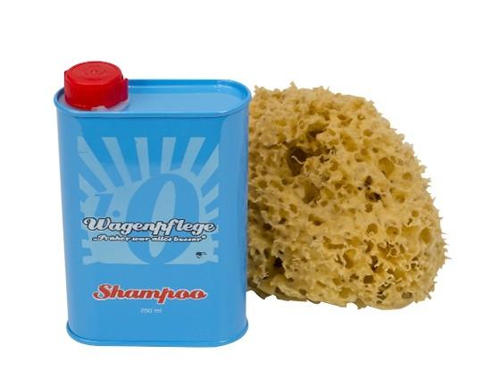 Oldtimer Shampoo und Naturschwamm Set