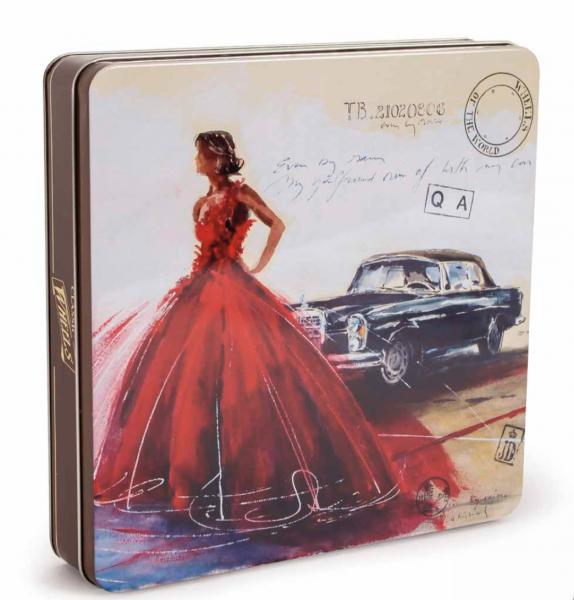Blechdose mit Oldtimer Motiv Mercedes Geschenkbox