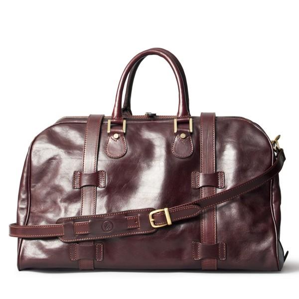 Handgepäck-Leder-Reisetasche-dunkelbraun