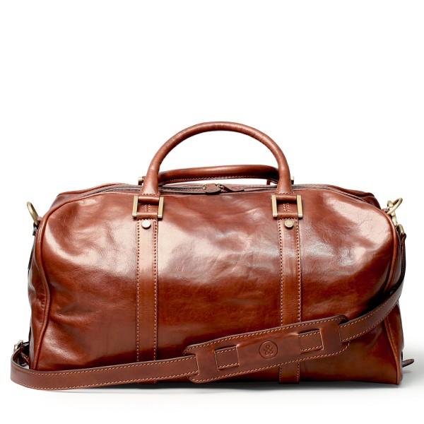 Reisetasche-Leder-klein-cognac
