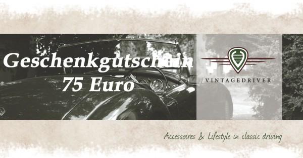 Geschenkgutschein vintagedriver 75 Euro Klassische Automobile Zubehör Bekleidung