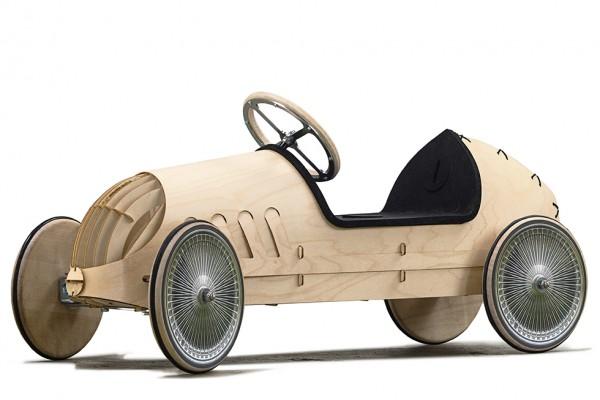 Holuzauto-Bausatz-Rutschauto-Oldtimer-Speichenräder